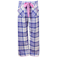 Buy Cyberjammies Betsy Check Pyjama Pants, Purple Online at johnlewis.com