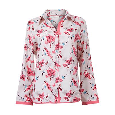 Cyberjammies Helen Floral Print Long Sleeve Pyjama Top, Cream