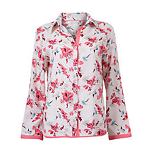 Buy Cyberjammies Helen Floral Print Long Sleeve Pyjama Top, Cream Online at johnlewis.com