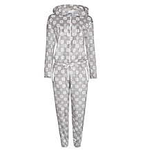 Buy DKNY Snowflake Long Sleeve Onesie, Grey Online at johnlewis.com