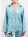 Cyberjammies Meadow Dandelion Print Long Sleeve Pyjama Top, Aqua