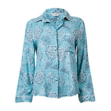Buy Cyberjammies Meadow Dandelion Print Long Sleeve Pyjama Top, Aqua Online at johnlewis.com