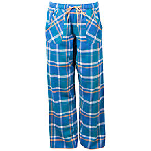 Buy Cyberjammies Natalie Check Print Pyjama Pants, Teal Online at johnlewis.com
