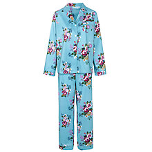 Buy John Lewis Rose Print Pyjama Set, Blue Online at johnlewis.com