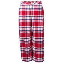 Buy Cyberjammies Michelle Check Pyjama Pants, Red Online at johnlewis.com