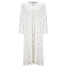 Buy John Lewis Floral Bird Print Jersey Nightdress, Ivory Multi Online at johnlewis.com