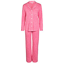 Buy DKNY Nightfall Punch Dot Herringbone Pyjama Set, Red Online at johnlewis.com