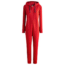 Buy Joules Oona Spot Sweat Onesie, Red Online at johnlewis.com
