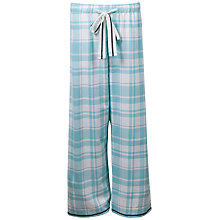 Buy Cyberjammies Meadow Check Pyjama Pants, Aqua Online at johnlewis.com