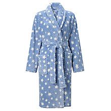 Buy John Lewis Waffle Fleece Star Robe, Blue Online at johnlewis.com