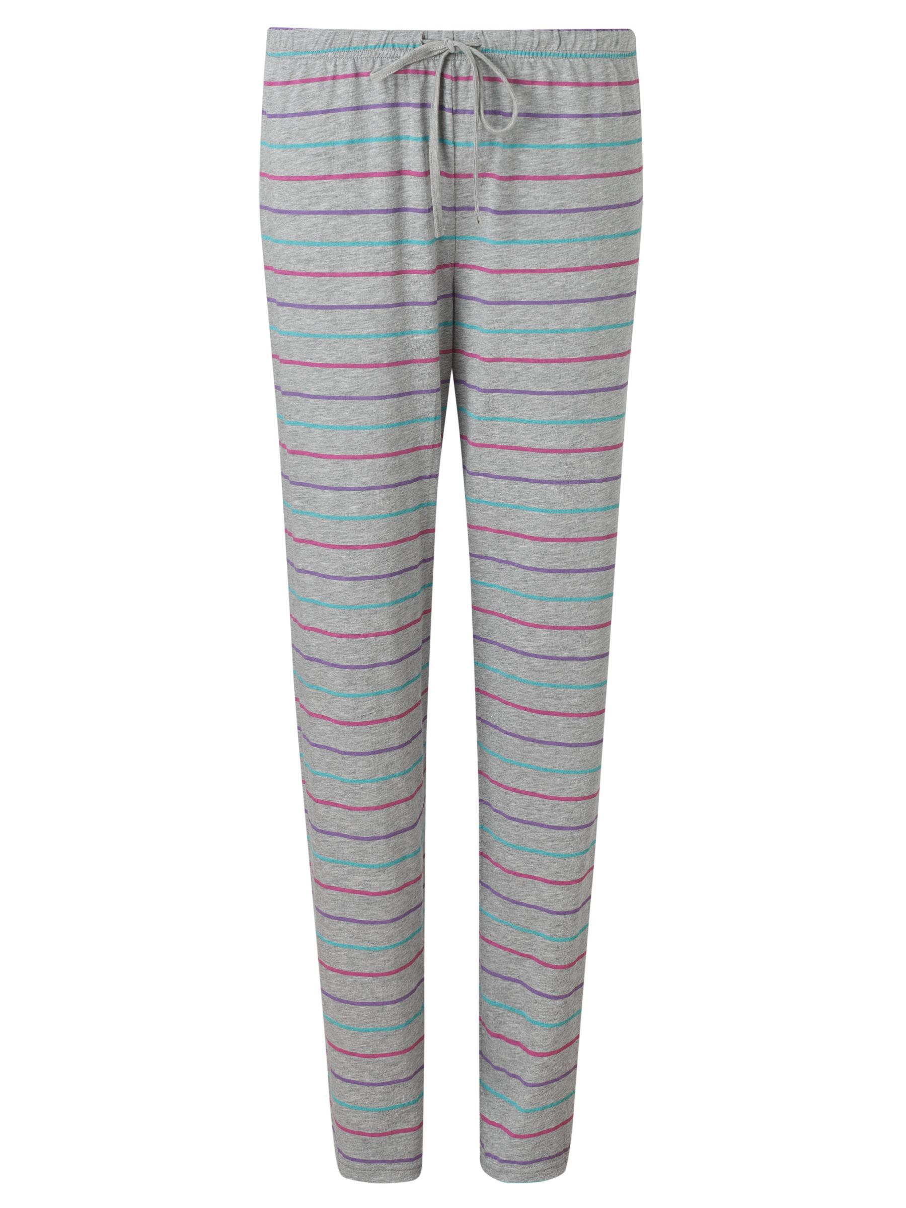 John Lewis Multi Stripe Pyjama Pants, Grey / Multi