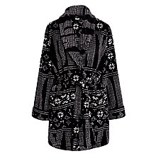 Buy DKNY Snow Day Long Sleeve Fairisle Robe, Black Online at johnlewis.com