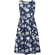 Buy Seasalt Gylly Spot Dress, Textured Spot Navy Online at johnlewis.com