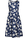 Seasalt Gylly Spot Dress, Textured Spot Navy
