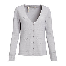 Buy Seasalt Amelia Cardigan, Silver Online at johnlewis.com