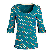 Buy Seasalt Split Spot Anchor Top, Peacock Online at johnlewis.com