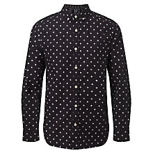 Buy JOHN LEWIS & Co. Geometric Diamond Print Shirt, Navy Online at johnlewis.com