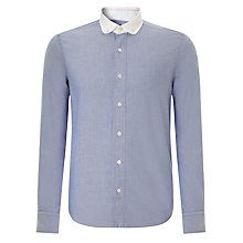 Buy JOHN LEWIS & Co. Contrast Collar Oxford Shirt, Blue Online at johnlewis.com