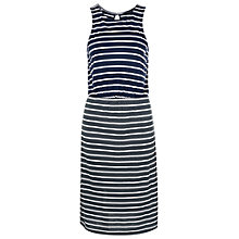 Buy French Connection Elliot Sleeveless Belted Dress, Utility Blue Online at johnlewis.com