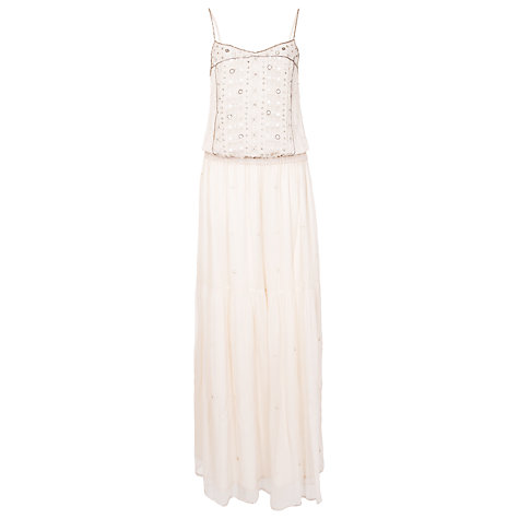 Buy French Connection California Dream Strap Maxi Dress, Winter White Online at johnlewis.com
