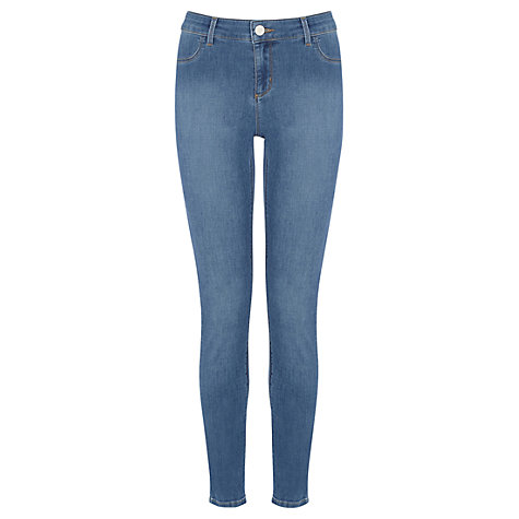 Buy Oasis Copenhagen Wash Jade Crop Jeans, Denim Online at johnlewis.com