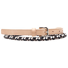 Buy French Connection Serena Belt, White/Multi Online at johnlewis.com