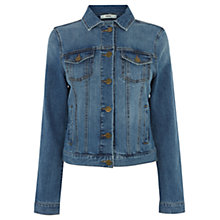 Buy Oasis Carly Mid Wash Denim Jacket, Denim Online at johnlewis.com