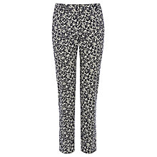 Buy Oasis Delft Leaf Print Trouser, Multi Online at johnlewis.com