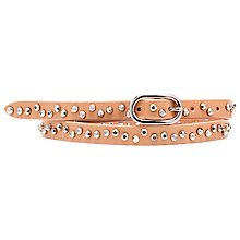 Buy French Connection Lucina Stud Waist Belt, Tan Online at johnlewis.com