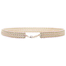 Buy French Connection Mimi Metal Weave Waist Belt, Multi Online at johnlewis.com