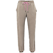 Buy French Connection Santa Fe Drape Trousers, Green Online at johnlewis.com