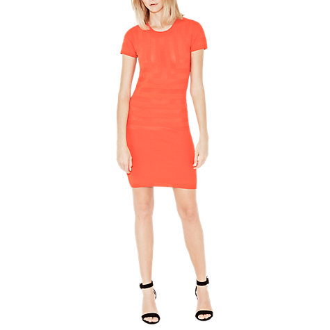 Buy French Connection Montana Muse Dress, Havana Red Online at johnlewis.com