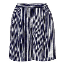 Buy L.K. Bennett Lea Loose Shorts, Navy/White Online at johnlewis.com