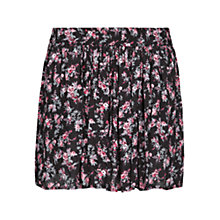 Buy Mango Floral Skater Skirt, Black Online at johnlewis.com