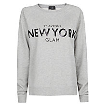 Buy Mango Sequin Logo Sweatshirt Online at johnlewis.com