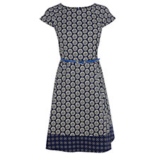 Buy Oasis Flower Tile Print Skater Dress, Multi Online at johnlewis.com