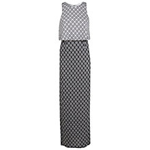 Buy Miss Selfridge Monochrome Maxi Dress, Black Online at johnlewis.com