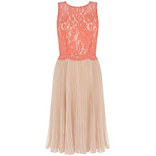 Buy Oasis Victoria Lace Dress, Multi Orange Online at johnlewis.com