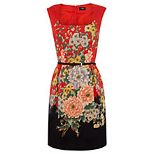 Buy Oasis Oriental Hydrangea Lantern Dress, Multi Online at johnlewis.com
