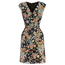 Buy Oasis Silk Japanese Bird Dress, Multi Online at johnlewis.com