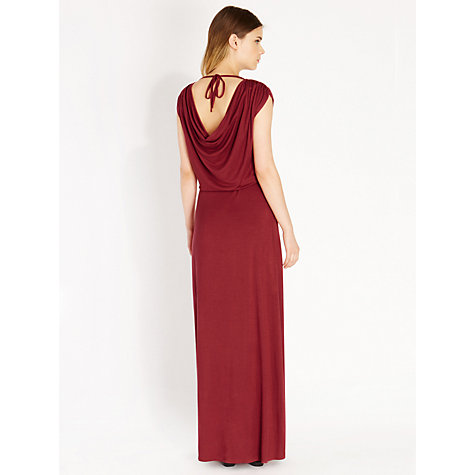 Buy Oasis Cowl Back Maxi Dress, Red Online at johnlewis.com