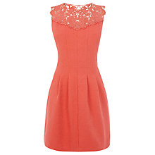 Buy Oasis Bella Skater Dress, Pink Online at johnlewis.com