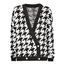 Buy Mango Oversized Houndstooth Cardigan, Natural White Online at johnlewis.com