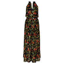 Buy Oasis Butterfly Blossom Maxi Dress, Multi/Black Online at johnlewis.com