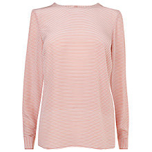 Buy L.K. Bennett Ibri Mini Stripe Top, Rosa/Cream Online at johnlewis.com