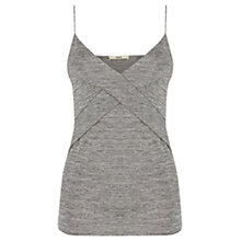 Buy Oasis Metallic Wrap Cami, Silver Online at johnlewis.com
