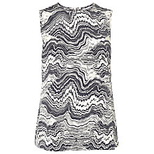 Buy L.K. Bennett Tole Printed Tank, Crystal Online at johnlewis.com