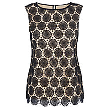 Buy Oasis Daisy Geo Shell Top, Navy Online at johnlewis.com
