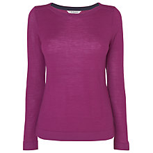 Buy L.K. Bennett Dilo Knitted Top, Red Violet Online at johnlewis.com