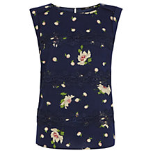 Buy Oasis Rose Garden Print Top Online at johnlewis.com